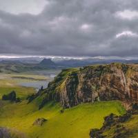 Mountain range in Vik, Iceland