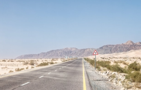 Desert Highway in Jordan