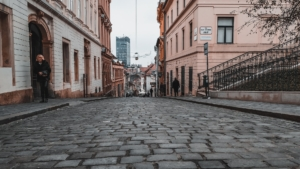 Street view in Zagreb