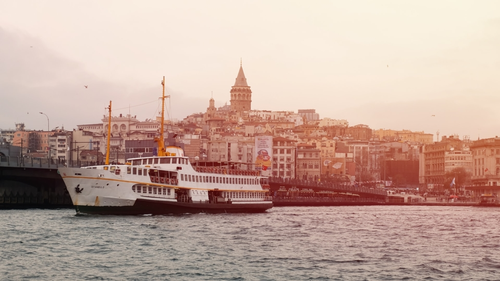 Boat on a River in Istanbul