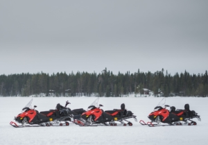 Go on a snowmobile ride