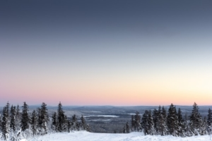 Sunset over Levi, Finland