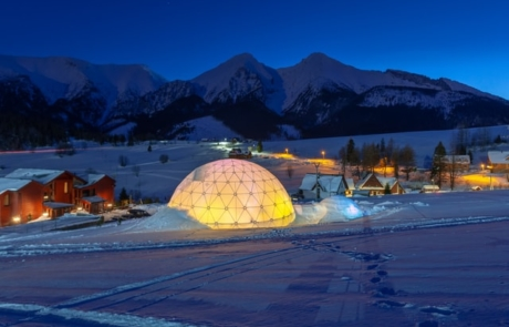 Stay in a Glass Igloo
