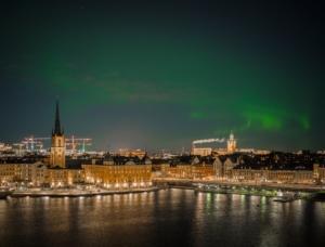 Northern Lights over Stockholm