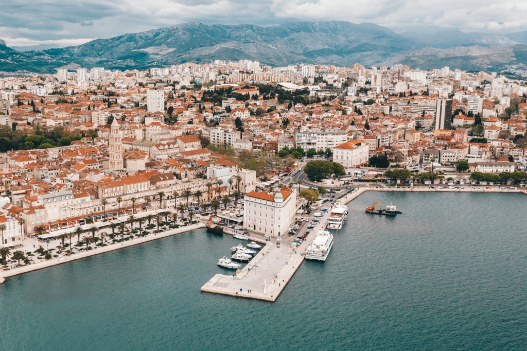 Aerial view of Split