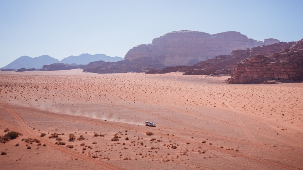 Jeep drive in Wadi Rum