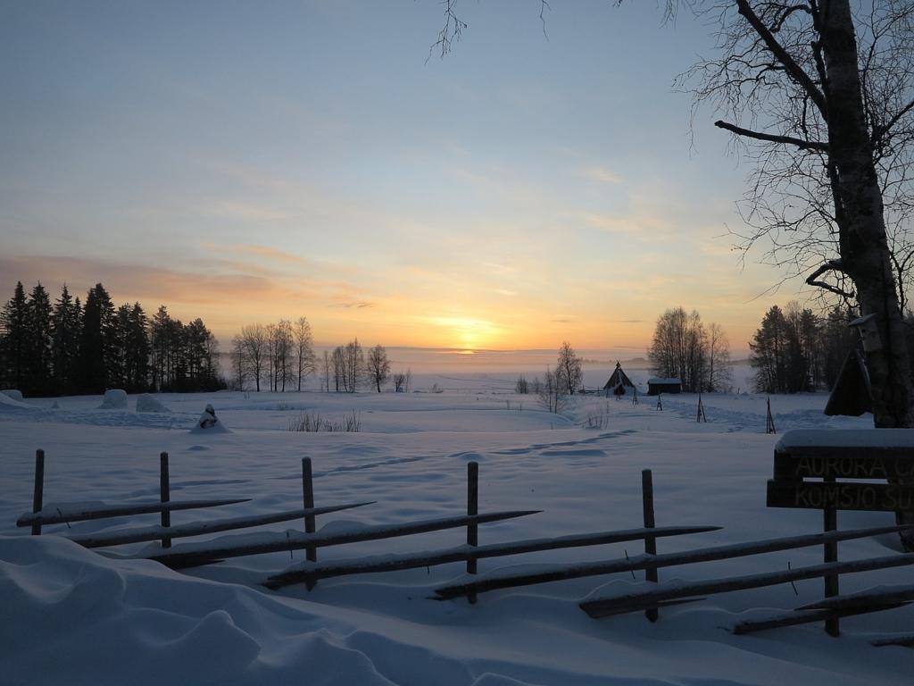 Sunrise in Winter over Rovaniemi