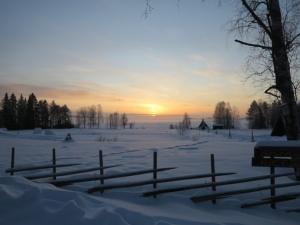 Snow covering Rovaniemi