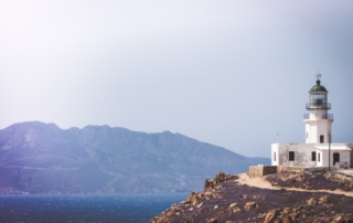 Lonely Lighthouse in Mykonos