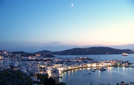 Mykonos in the early evening