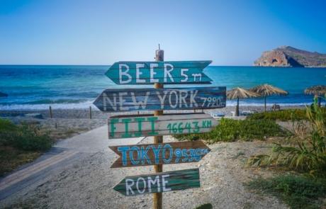 Sign in Crete, Greece