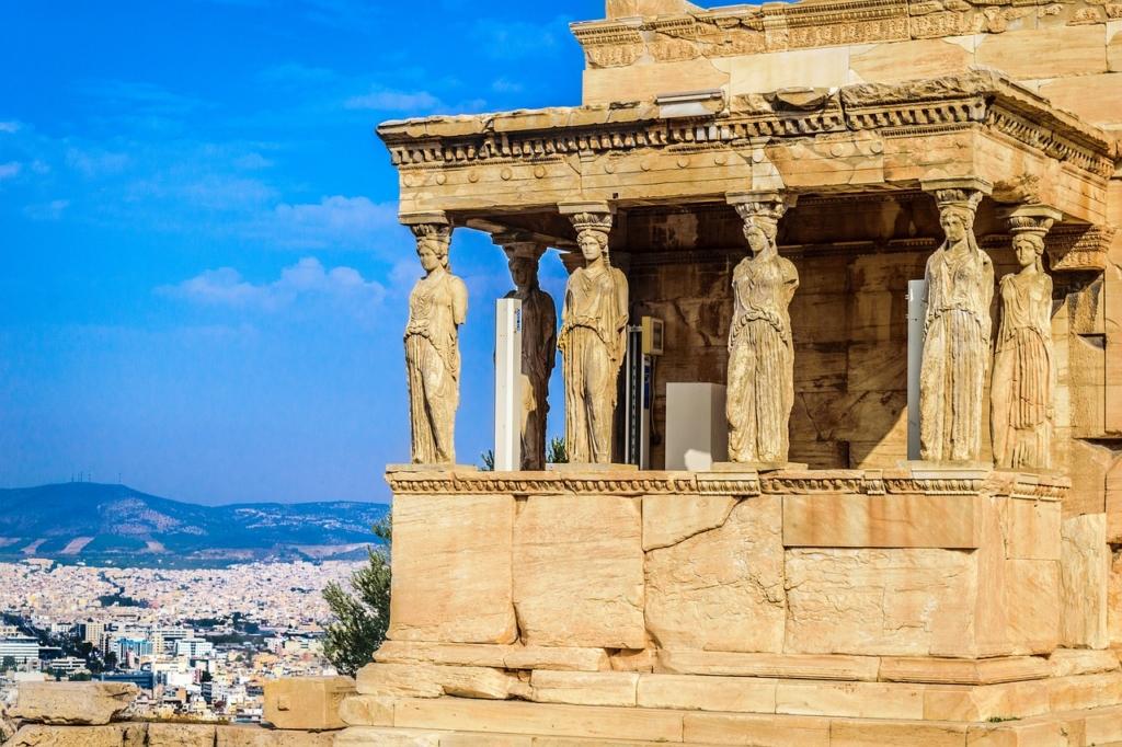 Caryatid, Athens, Greece