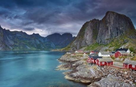 Mountain backdrop in Norway