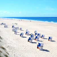 White sand beach in Sylt, Germany