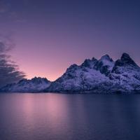 Snowy mountain in Norway