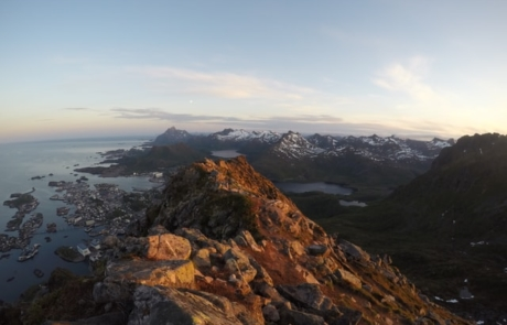 View from a mountain in Svolvær, Norway