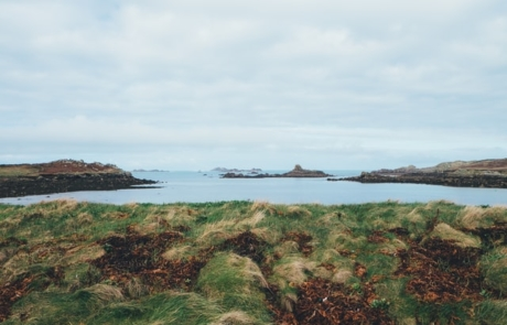 Land meeting the ocean in Isles of Scilly