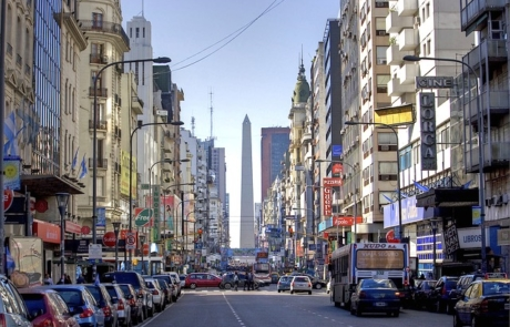 City street in Buenos Aires