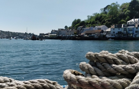 Fowey habour, looking over the water