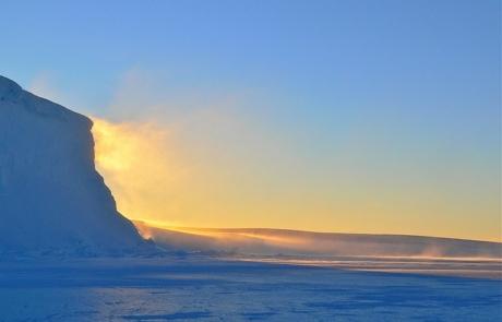 Sun-kissed Antarctic Ice