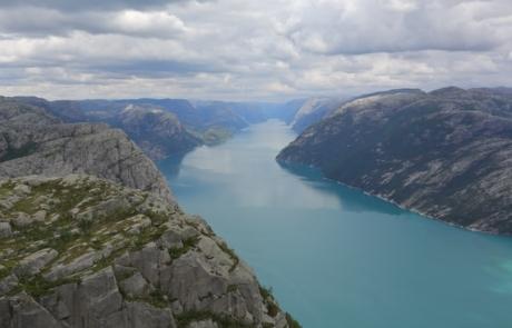 Fjord in Lysefjord