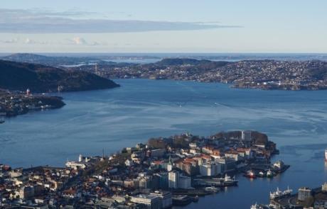 Aeriel view of Bergen
