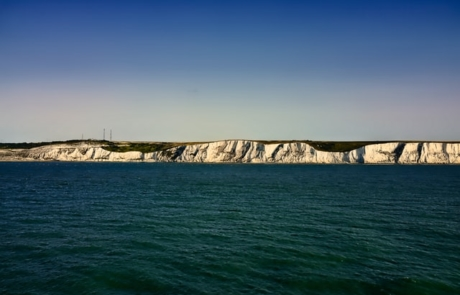 White walled cliffs of Dover