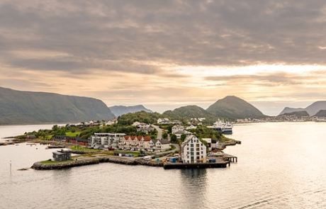 Sunset colours over Alesund