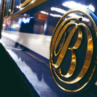 Blue Train Logo on a train