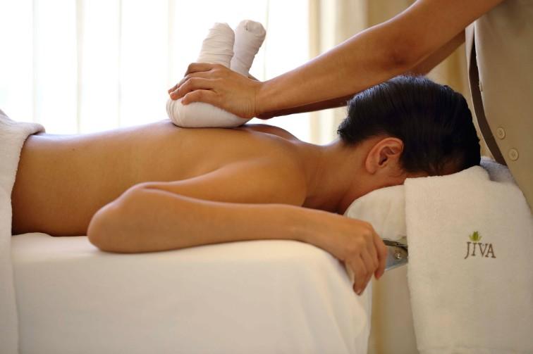Lady getting spa treatment