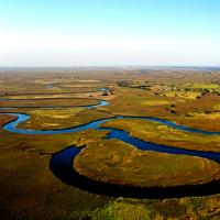 River delta in Botswana