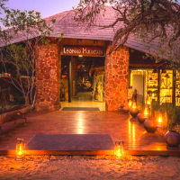 Entrance into a lodge in south africa