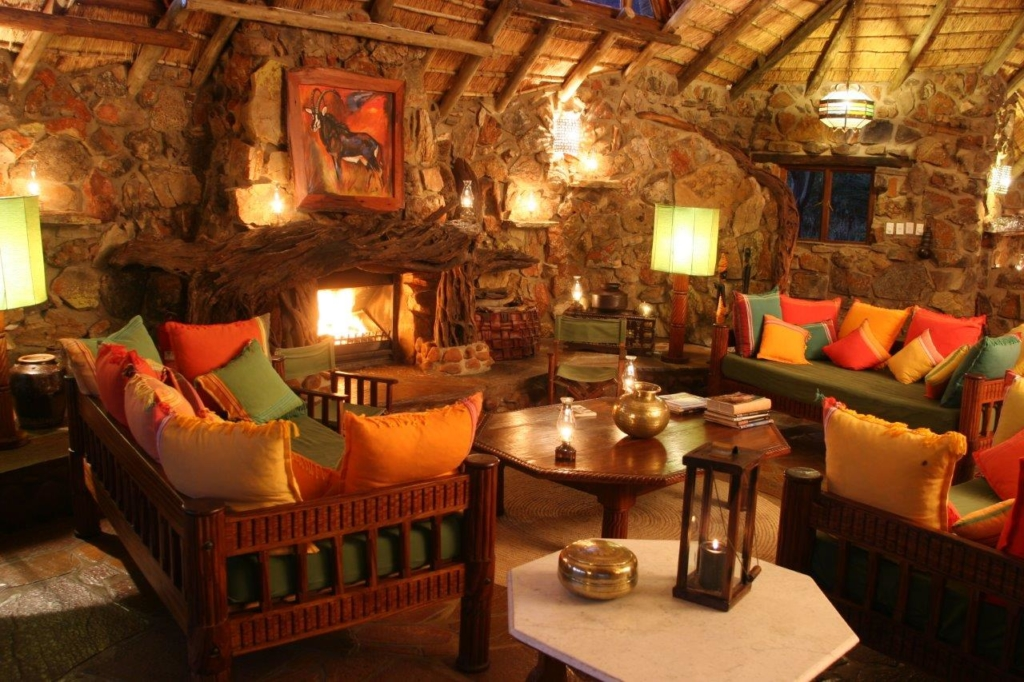 Seating area at a lodge resort