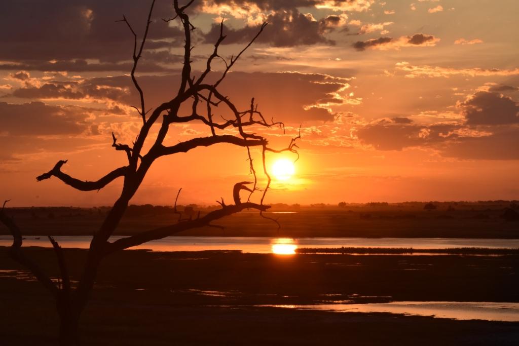 Sunset over a Chobe Delta