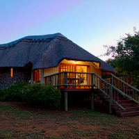 Exterior view of a chalet at a game reserve