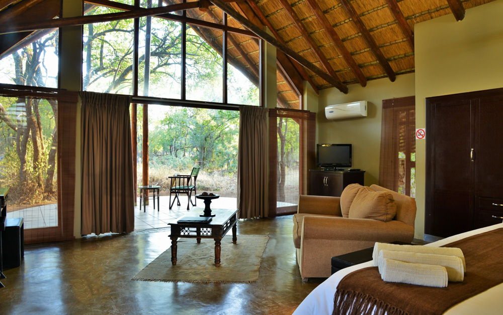 Large suite at a game reserve hotel