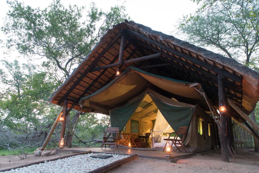 Exterior of a Safari Tent