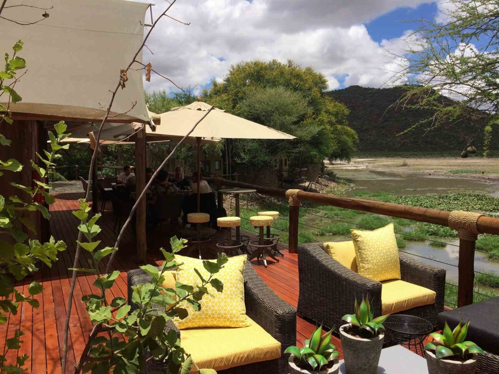 Sitting area on a Safari viewing Deck